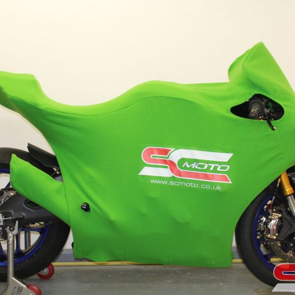 Yamaha R1 Track Bike Custom Motorcycle Cover 3 4