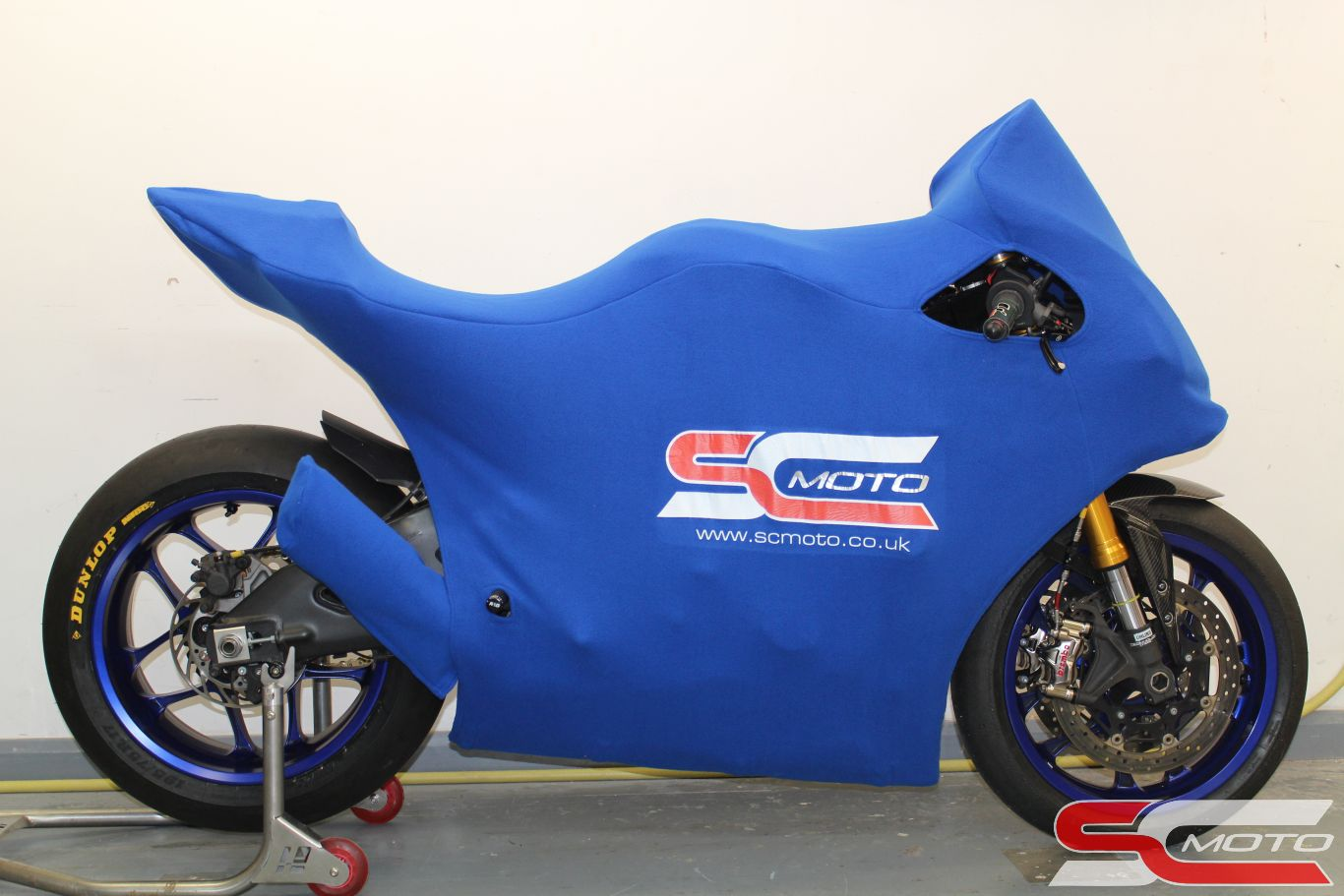Yamaha R1 Track Bike Cover Blue